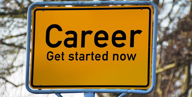 Career Get Started Now sign