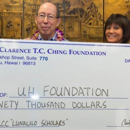 $90,000 donation for Lunalilo Scholars