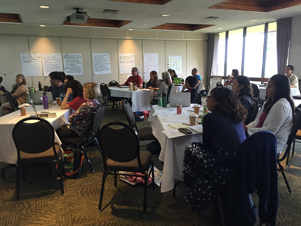 Participants worked collaboratively to identify what we could do differently for this accreditation cycle.