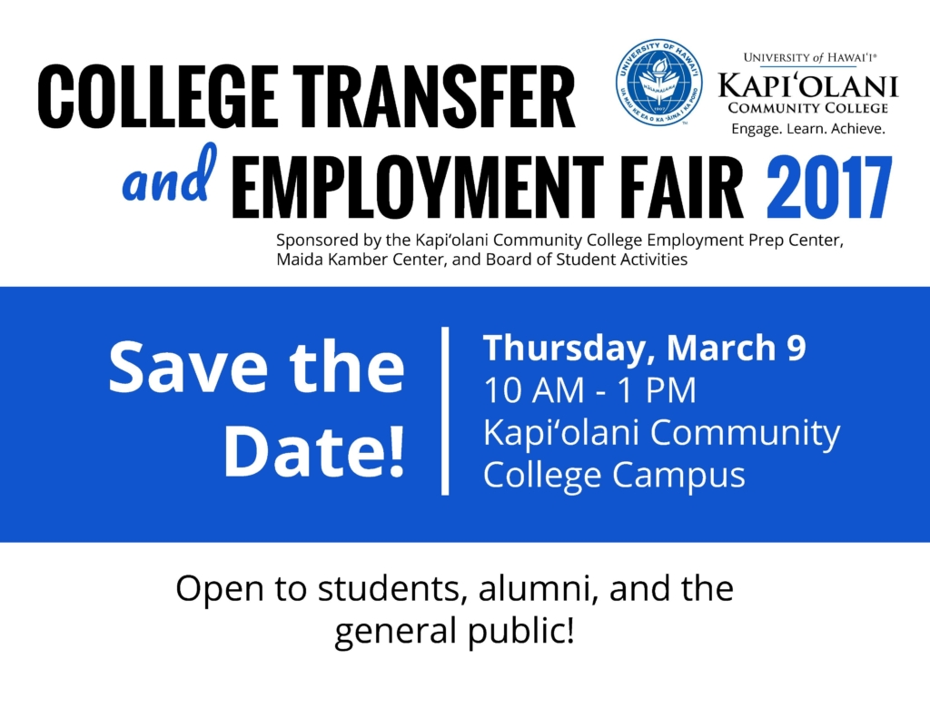 Save the Date! Open to students, alumni & the general public