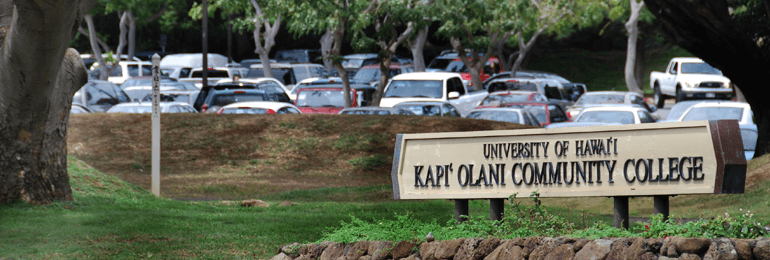 Kapiolani Community College entrance
